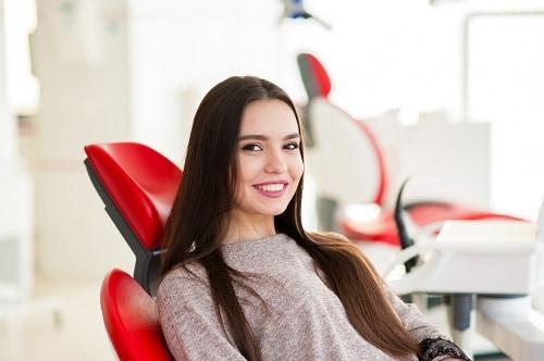 woman in dental chair